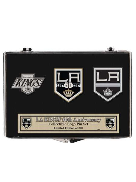 Los Angeles Kings 50th Anniversary Chevron 3 Pin Set