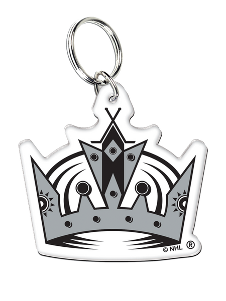 Los Angeles Kings 50th Anniversary Purple Crown Logo HD Key Ring