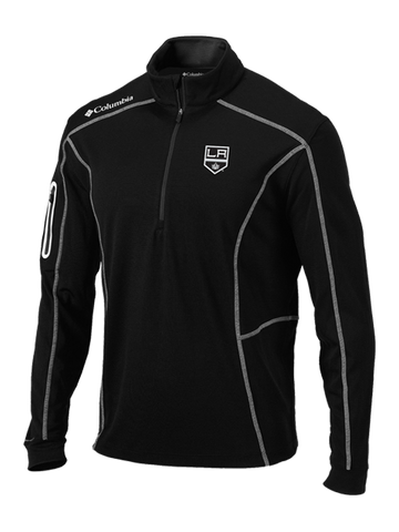 LA Kings Black Shotgun Quarter Zip Fleece