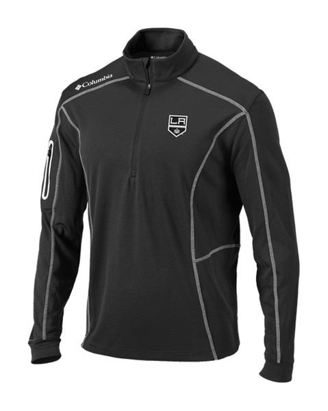 LA Kings Charcoal Shotgun Quarter Zip Fleece