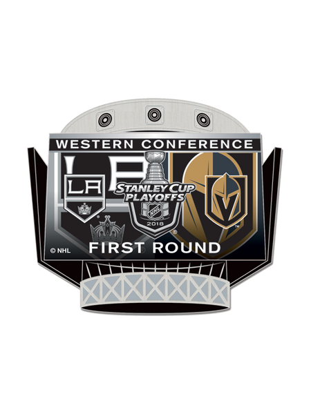LA Kings Playoffs First Round Dueling Pin