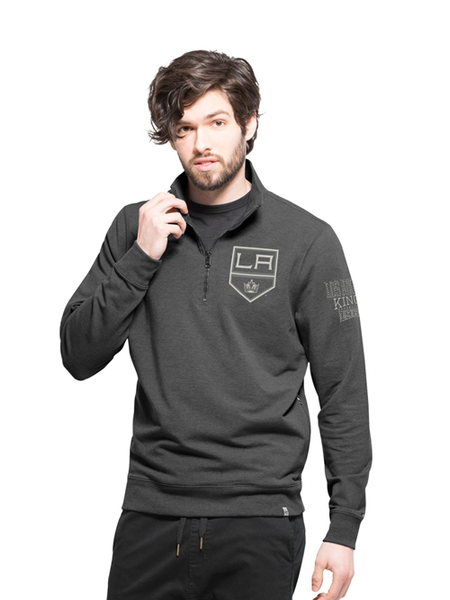 LA Kings Shift Peak Quarter Zip Fleece Jacket