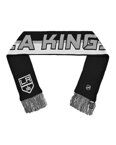 LA Kings Authentic Pro Rinkside Scarf - Black White