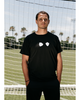 LA GALAXY ORIGINAL RETRO QUASAR NAVY GHOST LOGO TEE SHIRT