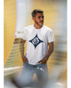 LA GALAXY ORIGINAL RETRO QUASAR OLD ENGLISH GEE WHITE T SHIRT
