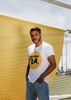 LA GALAXY ORIGINAL RETRO WHITE HAY SOLO UN LA! T
