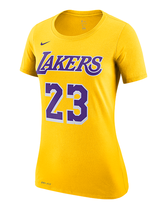 hot sale online 2a16a 61929 Los Angeles Lakers Women's LeBron James Icon Edition Player T-Shirt