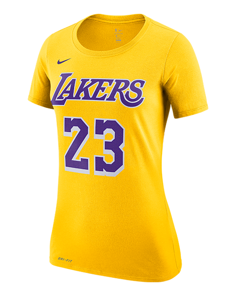 546679617 Los Angeles Lakers Women s LeBron James Icon Edition Player T-Shirt