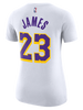 Los Angeles Lakers Women's LeBron James Association Edition Player T-Shirt