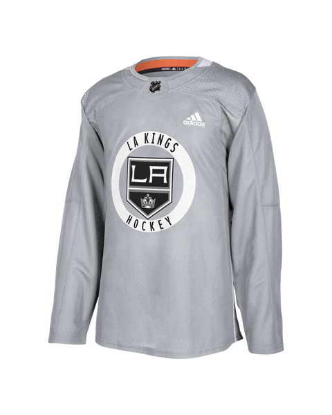 LA Kings Authentic Pro Practice Blank Jersey - Grey d7cf8b434