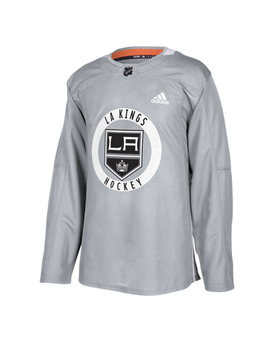 LA Kings Authentic Pro Practice Blank Jersey - Grey