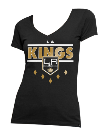 Los Angeles Kings 50th Anniversary Women's Clutch Flanker T-Shirt