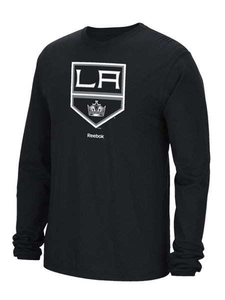 Los Angeles Kings Face Off Jersey Crest Long Sleeve T-Shirt