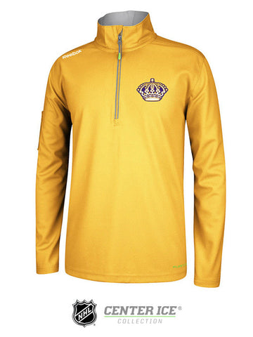 Los Angeles Kings Vintage Center Ice Baselayer Quarter Zip - Gold