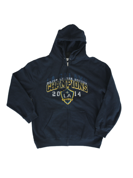 LA Galaxy 2014 MLS Champ Full Zip Hood