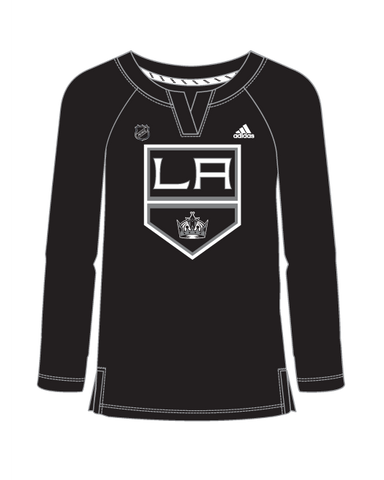 LA Kings Womens Stripe Henley Long Sleeve T-Shirt