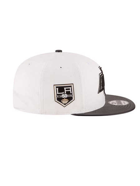 Los Angeles Kings 50th Anniversary Chevron Suede Leather Cap