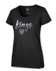 LA Kings Women's Sparkle Dip Scoop Neck T-Shirt