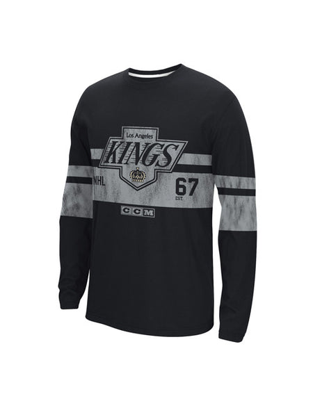 Los Angeles Kings CCM Chevron Logo Long Sleeve Crew T-Shirt