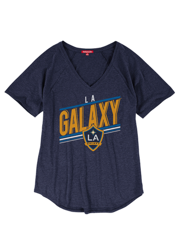 LA Galaxy Women's Race V-Neck T-Shirt