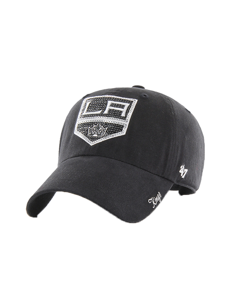 LA Kings Women's Sparkle Black Adjustable Hat