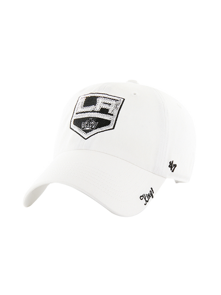 LA Kings Women's Sparkle White Adjustable Hat