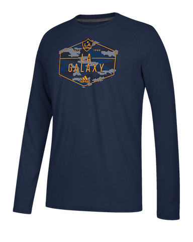 LA Galaxy Hex Camo Long Sleeve T-Shirt