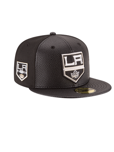 Los Angeles Kings 50th Shield Wool Leather Cap