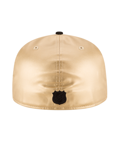 Los Angeles Kings 50th Anniversary Gold Leather Cap