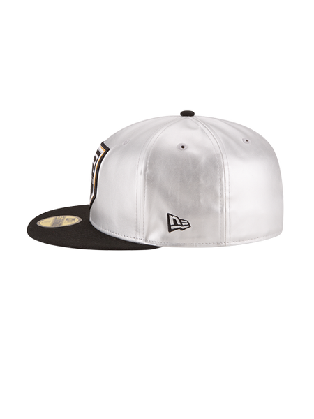 Los Angeles Kings 50th Anniversary Logo Silver Leather Cap