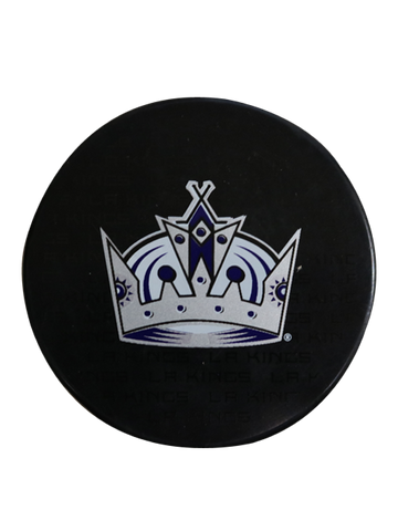 Los Angeles Kings 50th Anniversary Purple Crown Replica Puck