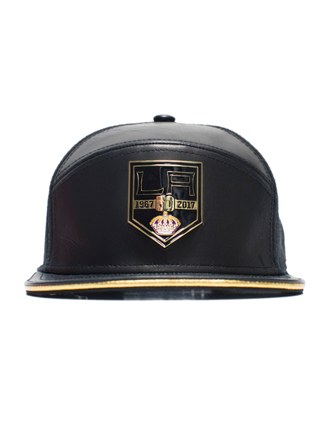 Los Angeles Kings 50th Anniversary Limited Edition Cashmere Napa Leather Cap