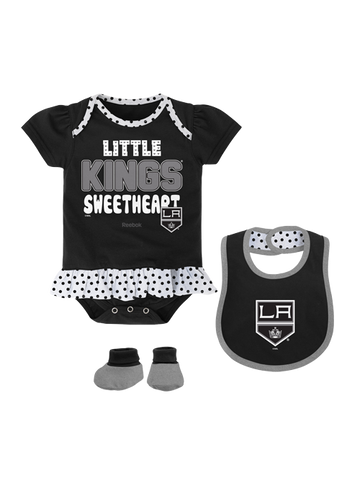 Los Angeles Kings Infant Little Sweet Creeper Bib Bootie Set