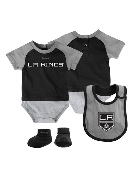 Los Angeles Kings Infant Lil Jersey Creeper Bib & Bootie Pack