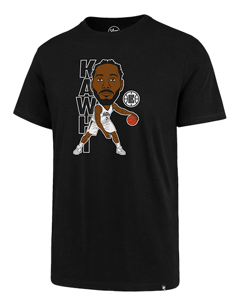 LA Clippers City Edition Kawhi Leonard Caricature Tee - Black