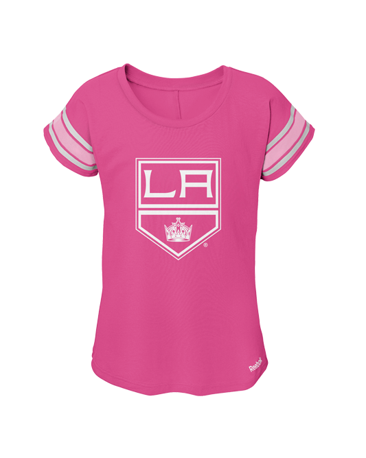 LA Kings Youth Girls Dolman Short Sleeve T-Shirt