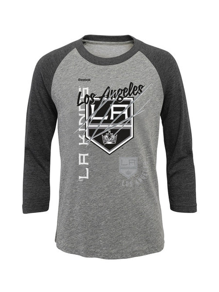 LA Kings Youth Girls Mother of Pearl Raglan T-Shirt - Long Sleeve