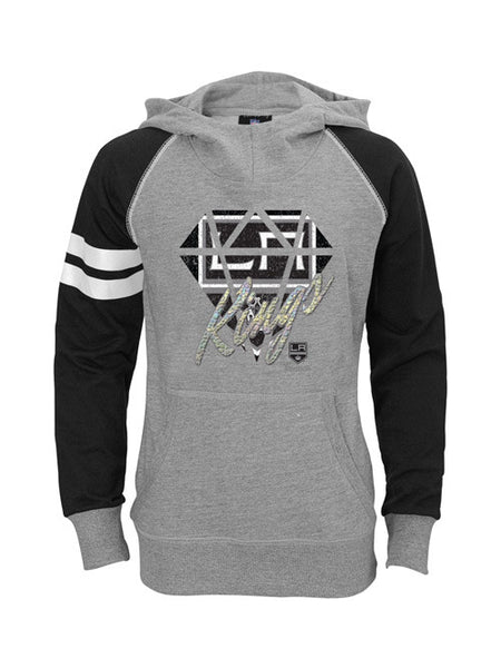 Los Angeles Kings Youth Girls Diamond Etched Hoodie