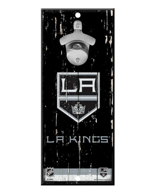 LA Kings Bottle Opener Wood Sign