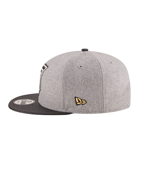 Los Angeles Kings 50th Anniversary Logo Melton Leather Crown Embroidered Cap