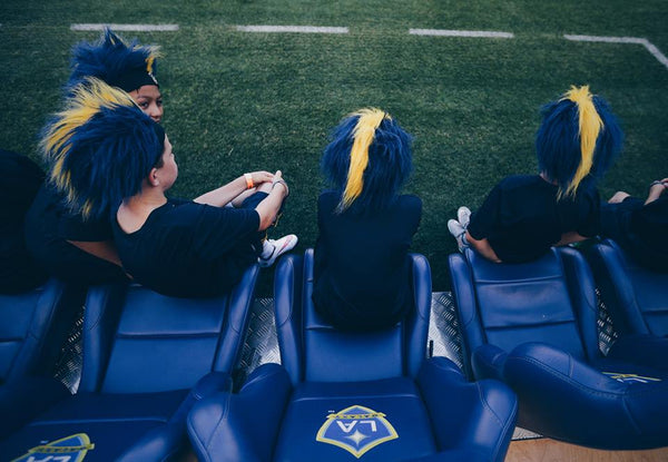 LA Galaxy Fuzzy Head Wig