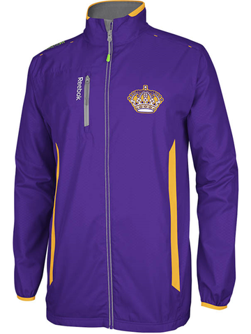Los Angeles Kings Vintage Center Ice Rink Jacket - Purple