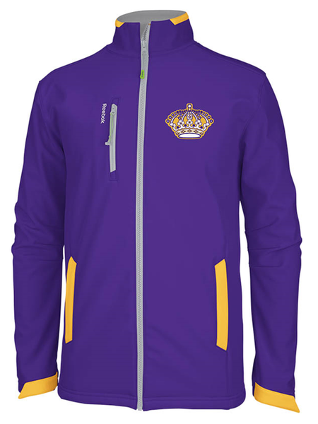 Los Angeles Kings Vintage Center Ice Softshell Jacket - Purple