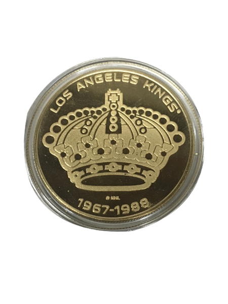 Los Angeles Kings 50th Anniversary Queens Crown Gold Minted Coin