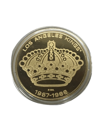 Los Angeles Kings 50th Anniversary Queen Crown Bronze Minted Coin