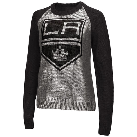 Los Angeles Kings Womens Touch Shine On Lurex Sweater