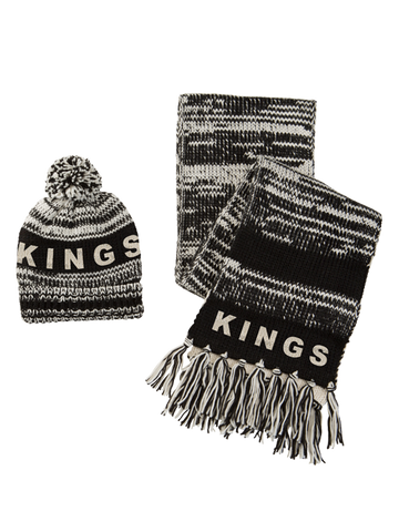 Los Angeles Kings Touch Moto Beanie & Scarf Warmer Combo
