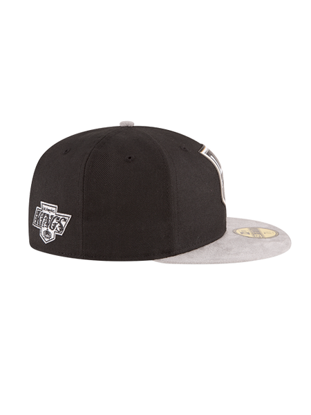 Los Angeles Kings 50th Anniversary Logo Leather Suede Cap