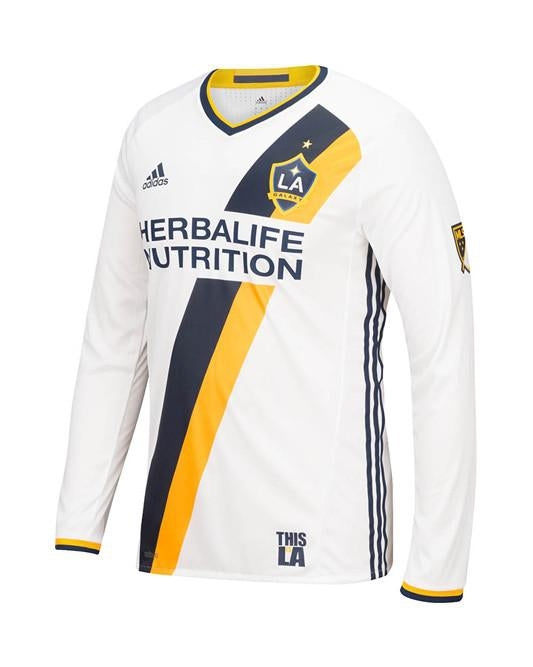 half off 0cbd2 9fca9 LA Galaxy Authentic Primary Long Sleeve Jersey