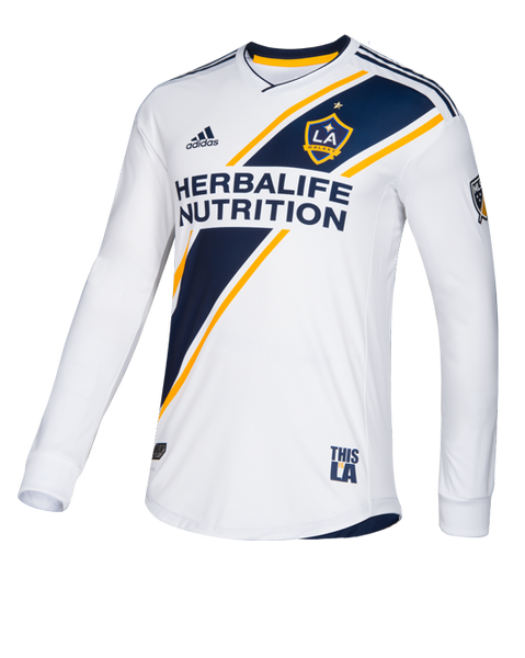 LA Galaxy Primary Authentic Long Sleeve Jersey